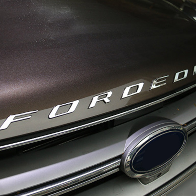 For   Ford Edge Accessories Car Metal Chrome Bonnet Hood D Logo Alphabet Sticker Emblem Car Styling In Car Stickers From Automobiles
