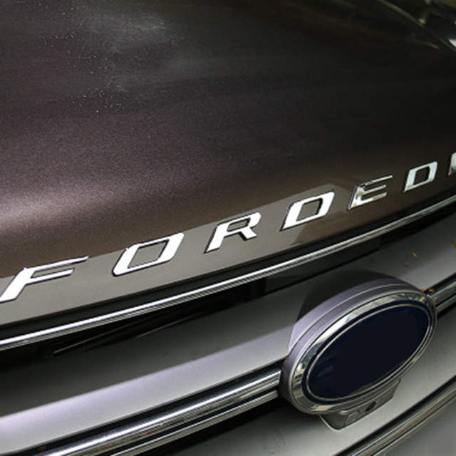 Ford Edge Accessories >> For 2014 2015 2016 2017 Ford Edge Accessories Car Metal Chrome Bonnet Hood 3d Logo Alphabet Sticker Emblem Car Styling