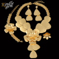 2017 New Large Maxi Necklace Set Uinque Dubai African Jewelry Set For Women  Luxury Real Gold Plated  Costume Jewelry Parure