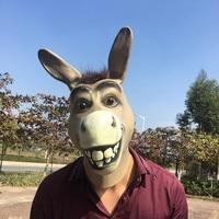 DATE Logie Drôle Âne Latex Masque Mr Stupide Âne Masque Halloween Cosplay Costume Prop Respirant Fournitures Festival Fête