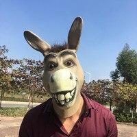 NEUESTE Logie Lustigen Esel Latex Maske Mr Dumme Esel Maske Halloween Cosplay Prop Atmungs Festival Party Supplies