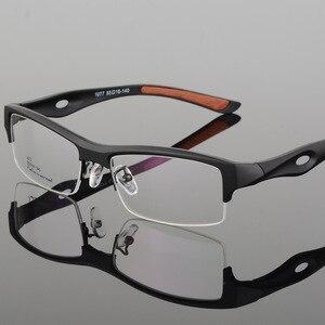 Image 3 - الرياضة إطار مشهد جذاب رجالي تصميم مميز مريح TR90 نصف إطار مربع نظارات رياضية إطار eyeglass s1077