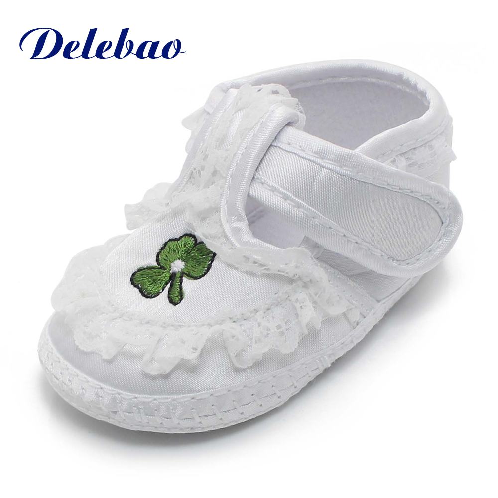 Pure White Newborn Baby Shoes Soft Sole  Baptism Shoes &  Christening - Baby Shoes