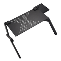 Portable Foldable Adjustable Laptop Desk Computer Table Stand Tray For Bed Black