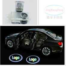 2 X LED Car Door Welcome Light Laser Shadow led For Passat B5 B5.5 Phaeton ghost shadow welcome logo  projector emblem
