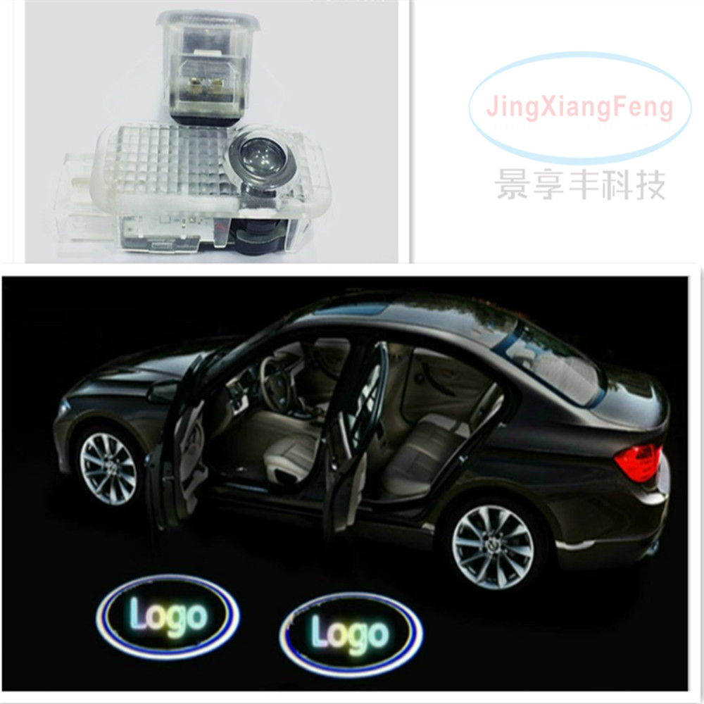 JingXiangFeng LED Car Door Welcome Light Laser Door Shadow For VW Passat B5 B5.5 Phaeton ghost shadow logo projector emblem