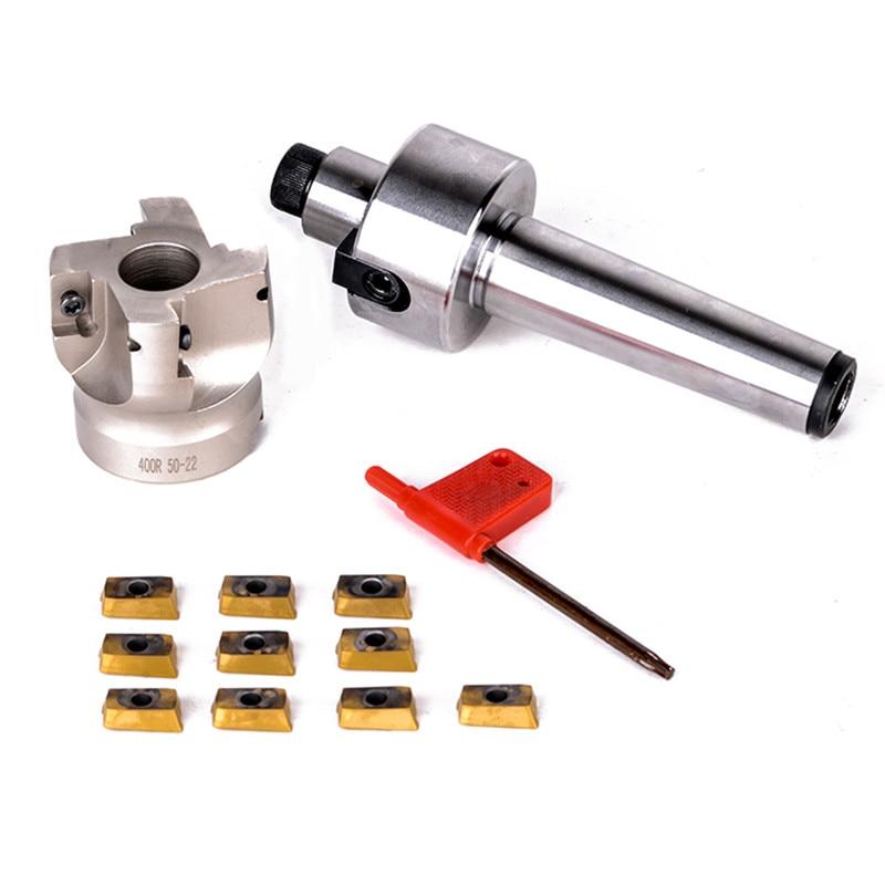 Nova MT3-FMB22-M12 400R 50-22 Rosto Fresa CNC Cortador de Haste + 10 pcs APMT1604 Inserções Para A Ferramenta De Poder