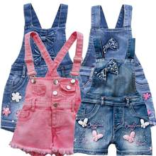 2-11T Summer Children Kids Little Girls Romper Shorts Denim Overalls Shortalls Jeans Cotton Denim Bib Shorts Rompers(China)
