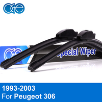 Oge Front And Rear Wiper Blade For Peugeot 306 1993 2003 Windscreen Rubber Car Auto Accessories