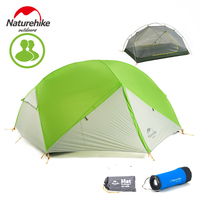 DHL ücretsiz kargo Naturehike Mongar 2 Kamp Çadırı Çift Katmanlar Su Geçirmez Ultralight Dome Çadır 2 Kişi için