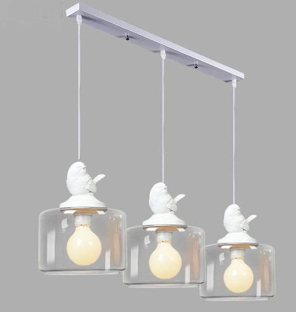 1/3/5 heads l&s bird hanging glass Restaurant Bar childrenu0027s room bedroom dinner American Rural l&s pendant light ZH FG851 & Online Shop 1/3/5 heads lamps bird hanging glass Restaurant Bar ...