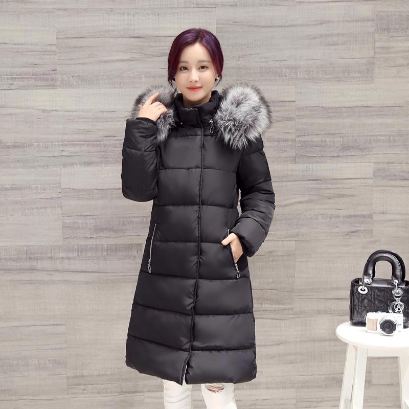 Nouvelle Hiver À Collection Nw0003 Chaud Noir De Capuchon Mode Veste gris La Manteau Femmes Longueur 2017 Fourrure Moyen nrnx8p