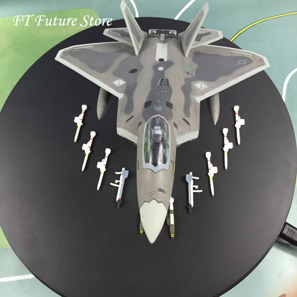 For Collection 1 72 F22 Military Alloy Diecast Simulation Aircraft Raptor Fighter Airplane with Stand Model