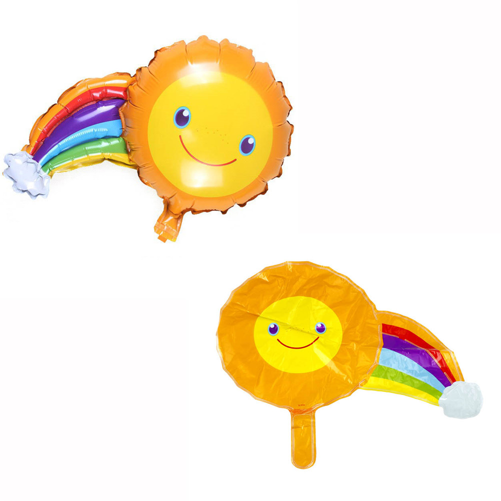Aluminum Foil Balloons Sunshine Rainbow Birthday Party Decorations ...