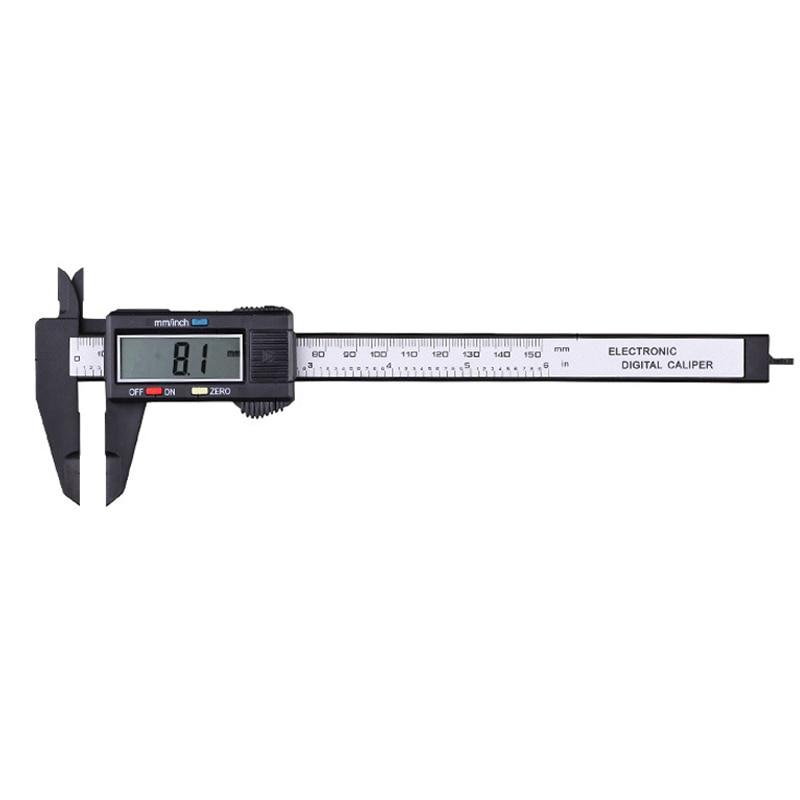 0-150mm Plastic Digital Vernier Caliper Calibre Digital Measuring Tool Thickness Gauge Depth Gauge  цены