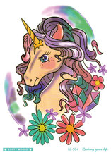 21x15cm HD Women Large Tatoo Sticker Cartoon Unicorn Horse Women's Cool Temporary Tattoo Stickers Taty Tattoo Sleeves