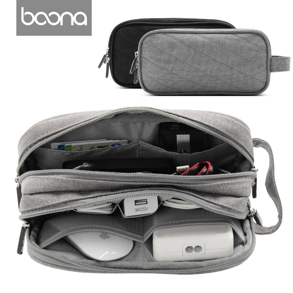 все цены на Boona Digital Storage Bag Electronic Accessories Travel Organizer Bag For Hard Drive Organizers USB Flash SD Card Travel Case