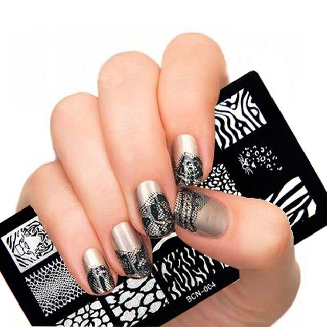 New DIY Nail Art Pattern Image Stamp Polish Nail Stamping Plates ...