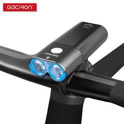 GACIRON 1800 lumenów światła rowerowe jazda na rowerze LED IPX6 wodoodporny reflektor przełącznik zdalny światło USB akumulator przednie światła