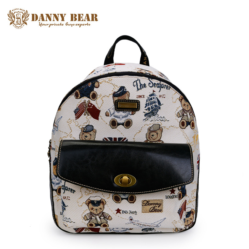 DANNY BEAR Korean Style School Backpacks For Teenagers Female White Large Travel Back Pack Bags Women Fashion Notebook Backpack рюкзак danny bear db14859 3