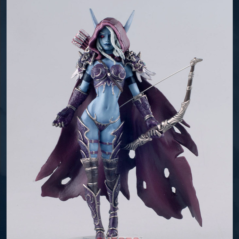 Collectible Toy WOW Sylvanas Windrunner Archery Queen PVC Anime Action Figure Model With Base For Children Birthday Gift