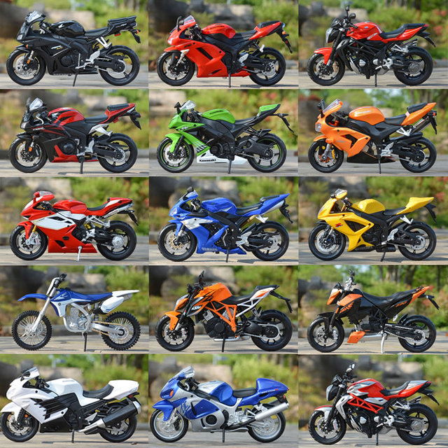 1/12 Finished Motorcycle Model Building Kits Toy World famous motorcycle assemble with Pedestal Puzzle For boys Gift