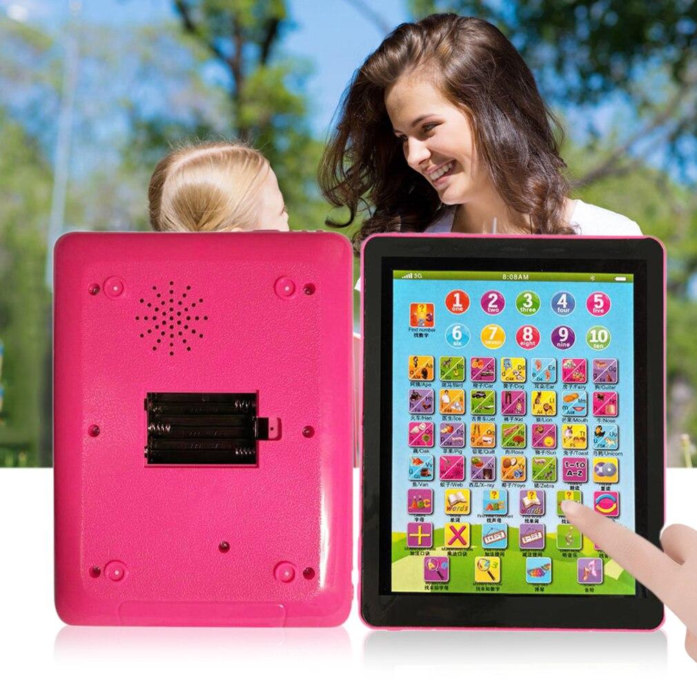 2 цвета Планшеты площадку компьютер для детей изучение английского образования учить игрушки Новинка; Лидер продаж!