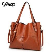 ZMQN Women Leather Handbag Luxury Handbags Women Bag Designer Famous Brand Oil Wax High Quality 2017