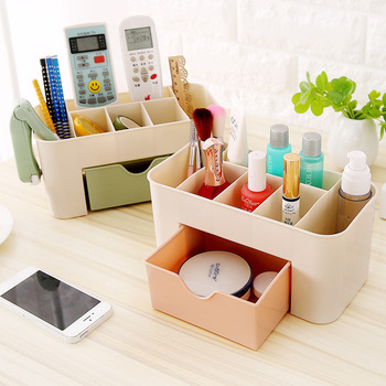 Plastic Storage Box Makeup Organizer Case Drawers Cosmetic Display Storage Organizer Office Sundries Make Up Container Boxes