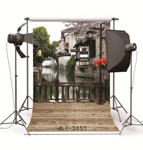 Image 2 - خلفية من القماش لصور المدينة المائية من الصين حاسوب مطبوع ستارة خلفية للتصوير الفوتوغرافي للأطفال في حفلات الزفاف للاستوديو