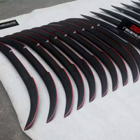 F22 F23 Modified M4 Style Red Carbon Fiber Rear Trunk Luggage Compartment Spoiler Car Wing For