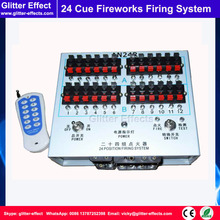 24 cue Stage cold fireworks firing system indoor fountain pyrotechnic Wireless Igniter Fireworks firing machine
