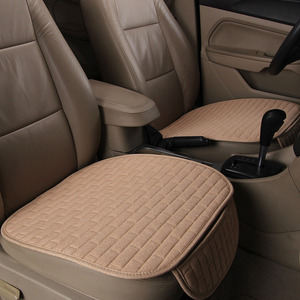 Image 2 - Dewtreetali 2018 Hot  Linen Fabric Car Seat Cover Four Seasons Front Rear Flax Cushion Breathable Protector Mat Pad