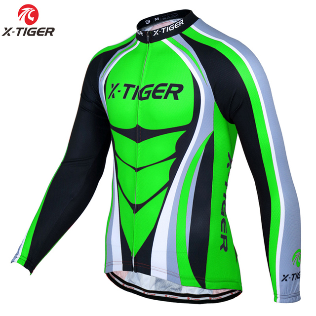 X Tiger Pro Long Sleeve Cycling Jerseys Mountain Bike Clothing Breathable  Bicycle Clothes Wear Ropa Ciclismo Cycling Clothing-in Cycling Jerseys from  Sports ... 451b49d21