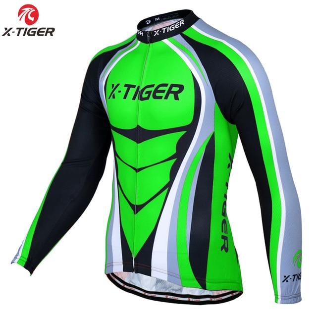 24b4495d0d662f X-Tigre Pro Manica Lunga Maglie da ciclismo Mountain Bike Abbigliamento  Bicicletta Traspirante Vestiti di