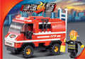 Gift for boy 1pc plastic assembly puzzle small model light attack vehicle fire fighting truck educational toy
