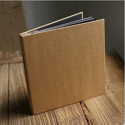 Vintage Blank Kraft Paper Film Inside Self Adhesive Album Hand Diy