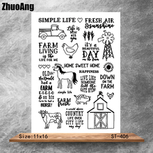 My farm life Transparent Clear Stamps DIY Scrapbooking Album Card Making Decoration Embossing Stencil