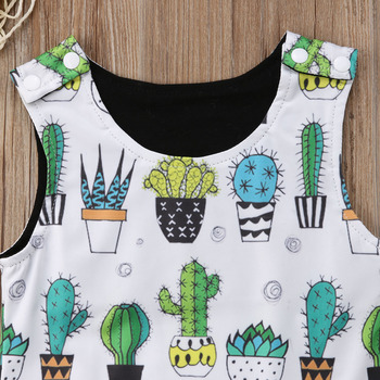 2018 Brand New Newborn Infant Toddler Baby Boy Girl Floral Sleeveless Romper Jumpsuit Clothes Cactus Outfit Summer Sunsuit 1
