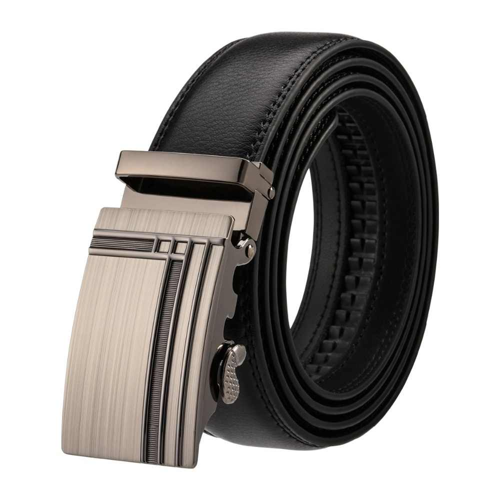 YOJBO Men Belt Luxury Leather Male 2019 Fashion Luxuvry Designer Brand High Quality Waist Strap Automatic Buckle Belts for Men