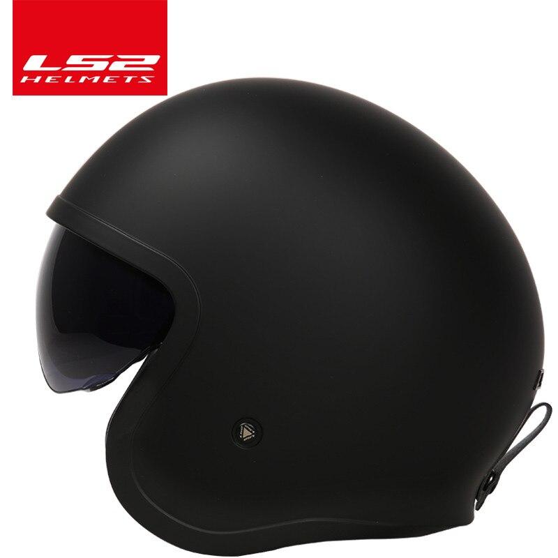LS2 OF599 Spitfire moto rcycle Винтаж шлем открытым лицом Ретро 3/4 jet половина шлем Шлем КАСКО moto capacete