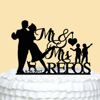 Cake Topper For Wedding Mr Mrs Wedding Cake Topper Custom Family Cake Decorations Cake Toppers With