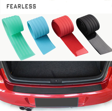 Car trunk protective strip bumper anti-collision anti-friction rubber tail door trim rear guard threshold