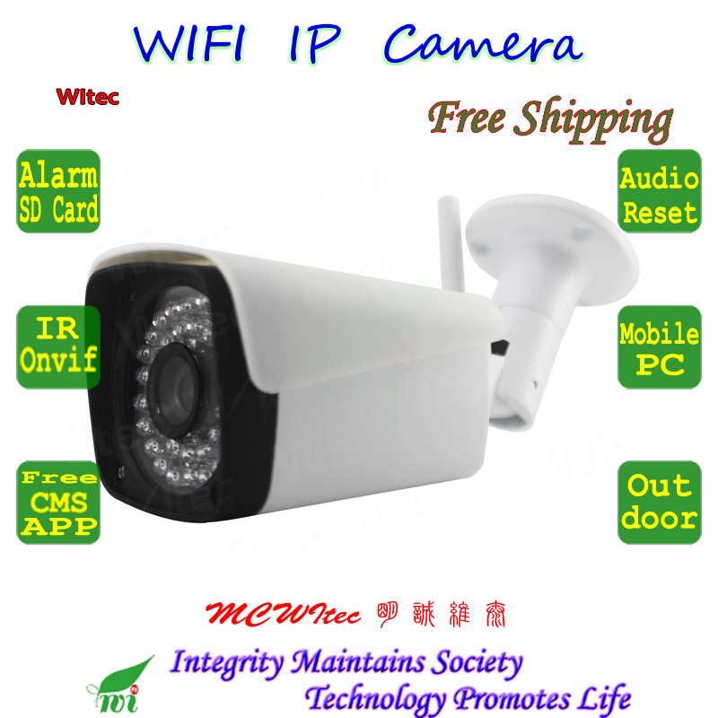 MIC Audio Mini Reset SD Card IP Camera WIFI 1080P 960P 720P IR CCTV Camera RTSP Metal Outdoor Bullet ONVIF P2P security Alarm azishn yoosee wifi onvif ip camera 1080p 960p 720p wireless wired p2p alarm cctv outdoor camera with sd card slot max 128g