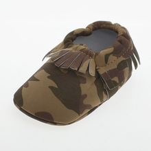 Spring Soft Sole Army Green Baby Shoes Unique Tassel Style Newborn 2016 First Walkers