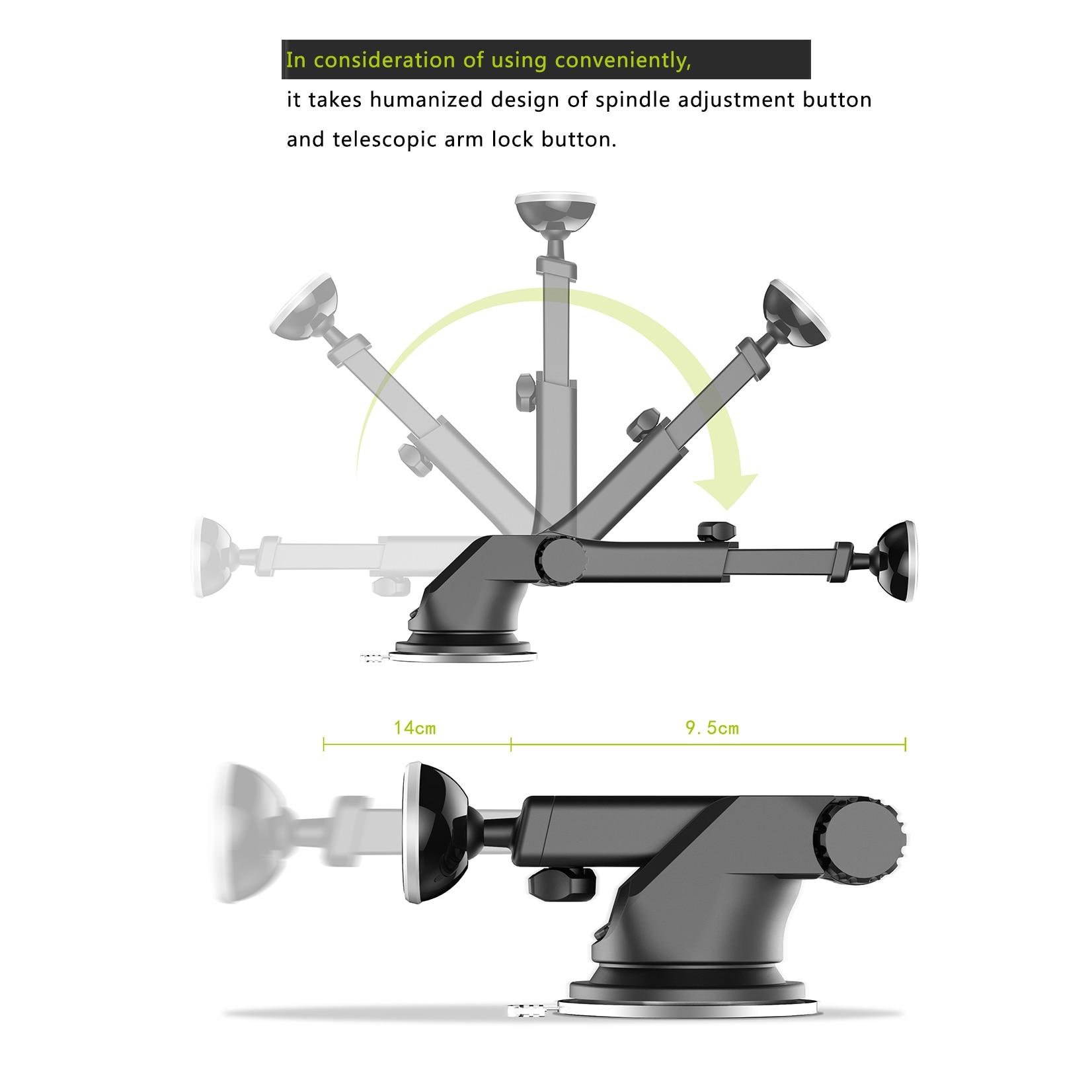 Baseus magnetisk bilhållare för iPhone 11 Pro Xs Max Teleskopisk - Reservdelar och tillbehör för mobiltelefoner - Foto 6