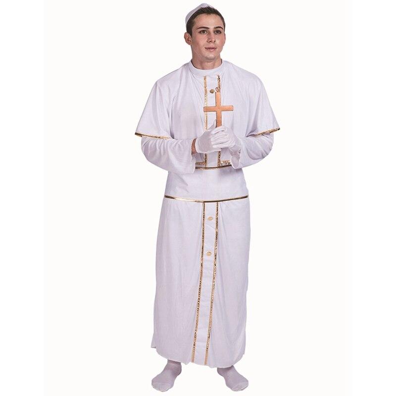 Pretty Regal Adult Men's Pope Saints Catholic Priest Religion Christmas Costume