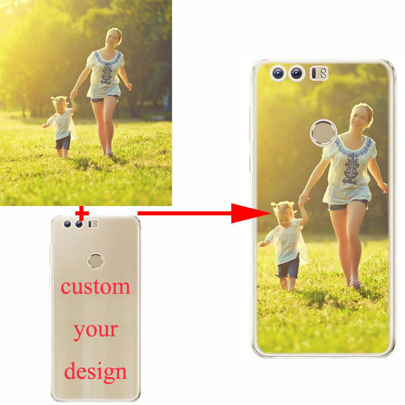 Personalized Custom Cover Bag Create Your Own Design Phone Case Shell Holder for huawei p8 P9 P10 lite P20 P30 Pro Lite