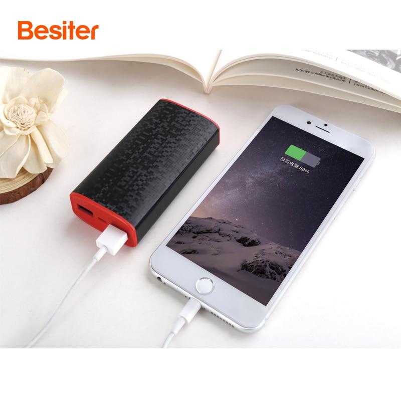 imágenes para Besiter 6000 mah Banco Portable de la Energía para Los Teléfonos Inteligentes de Células de La Batería Cargador de Baterías Externas de Doble Puerto USB para xiaomi