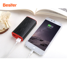 Besiter 6000mah Power Bank Portable for Smart Phones Battery Cell Charger Dual USB Port External Battery Pack for xiaomi
